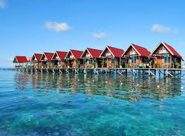 the beautiful water chalets at mabul island sabah borneo mabul is