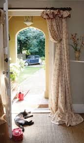 beautiful curtains over french doors on curtains to ceiling over
