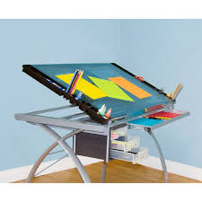 glass drafting table with light studio designs futura craft station with glass top walmart com