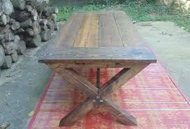frederick dining table chevron trestle farmhouse reclaimed