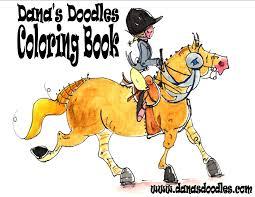 free horse coloring book dana u0027s doodles
