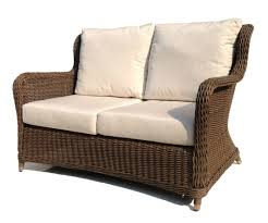 Homebase Garden Furniture Furniture Wicker Loveseat With Tray For Cozy Patio Furniture Ideas