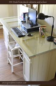 Door Desk Diy Diy Show On The Side Glasses And Cabinets