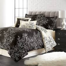 total fab black and ivory comforter u0026 bedding sets
