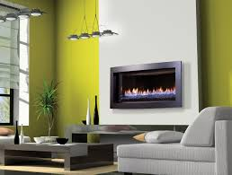 shallow ventless gas fireplace insert modern ventless fireplace