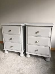 stunning bedside tables grey drawers dresser country style vintage