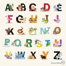 amazon com fun educational alphabet with animals for baby nursery amazon com fun educational alphabet with animals for baby nursery and kids rooms wall decor easy peel stickers decals baby