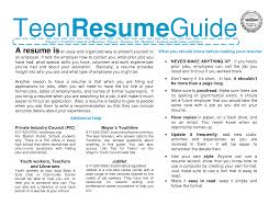 Resume Template For Teenager 97 Teenager Resume Resume Templates For Teens Resume Badak