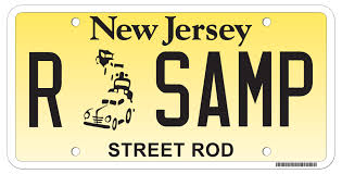 Dmv Vanity Plate State Of New Jersey Motor Vehicle Commission