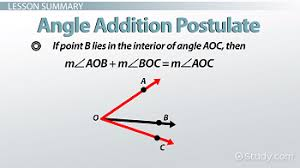 angle addition postulate definition u0026 examples video u0026 lesson