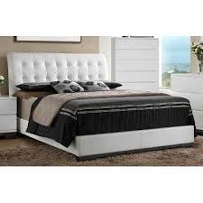 white tufted queen size upholstered bed avery rc willey