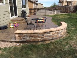 Stamped Concrete Patio Maintenance Stamp Concrete Patio And Sitting Wall Yelp