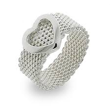 silver rings tiffany images Style sterling silver mesh heart ring eve 39 s addiction jpg