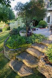 Backyard Trees Landscaping Ideas by Best 25 Sloped Backyard Ideas On Pinterest Sloping Backyard