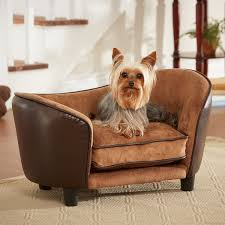 enchanted home pet ultra leather snuggle dog bed in brown petco