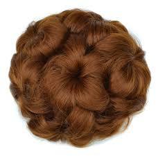 flower hair bun 1pcs synthetic hair bun extension scrunchie curly flower