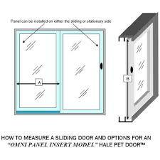 how to measure sliding glass doors buy hale pet door omni panel cat u0026 dog door for sliding glass
