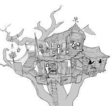 zpg bonus artwork treehouse sketch zombie playground