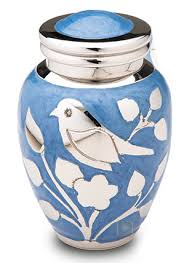 keepsake urn blessing birds silver keepsake urn