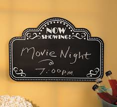 amazon com movie night chalkboard home decor office products