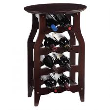 Dining Room Table With Wine Rack Furniture Fascinating Dining Room Decoration With Round Mahogany