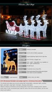 Lighted Santa Sleigh Reindeer Set by Outdoor Lighted Reindeer And Sleigh 44360 Astonbkk Com