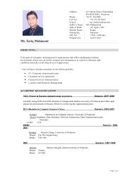 Professional Resume Format For Fresher by Professional Curriculum Vitae Format Resumewordtemplate Org