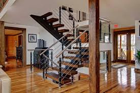 Log Cabin Floors by Such A Gorgeous Staircase The Dark Steps Contrast So Well With