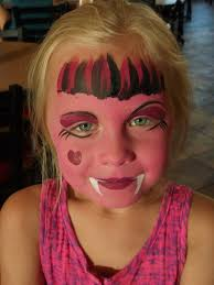 this is monster high inspired but something like this for face