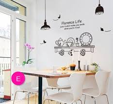 Wallpaper For Kitchen Walls by Artificial Plates Wall Stickers Home Coffee Shop Restaurant Decor