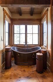 64 best log home bathroom images on pinterest rustic bathrooms