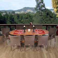 Eucalyptus Outdoor Table by Shop International Home Amazonia Renaissance 9 Piece Brown