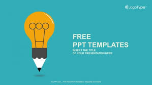 ppt template design free download education symbol bulb powerpoint