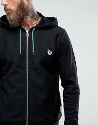 auction men clothes ps by paul smith zebra logo hoodie in black