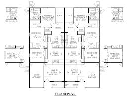 Multifamily House Plans Houseplans Biz House Plan D1392 B Duplex 1392 B