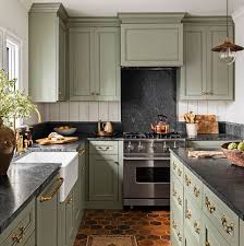 what color countertops go with cabinets 15 best green kitchen cabinet ideas top green paint colors