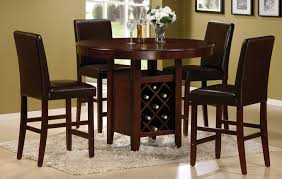 dark brown round kitchen table classic dining room design with round brown cherry counter high