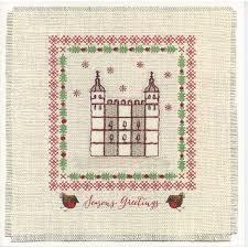 of cross stitch card
