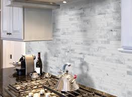 Carrara Marble Subway Tile Kitchen Backsplash by 14 Best Backsplash Images On Pinterest Mosaic Tiles Backsplash