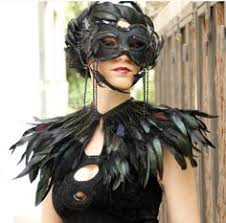 Raven Halloween Costume Feather Choker Perfect Raven Costume