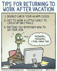 Back To Work Meme - tips for returning to work after vacation love to laugh