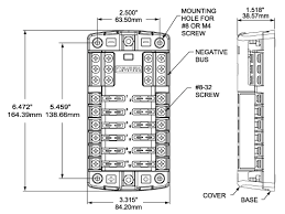 st blade fuse block 12 circuits with negative bus and cover