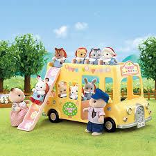 sylvanian families nursery double bus toys r us