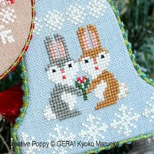 gera by kyoko maruoka christmas ornaments cross stitch pattern