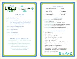Wedding Program Templates Free Download 10 Sample Event Program Template Plantemplate Info
