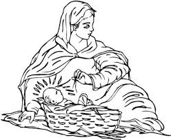mary coloring pages trendy mary and baby jesus coloring page real