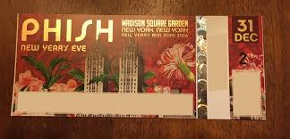 phish nye 31st ticket stub design phish