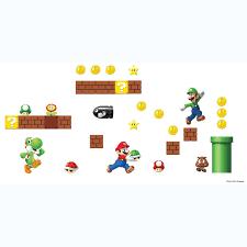Super Mario Home Decor Amazon Com Roommates Rmk2351scs Nintendo Super Mario Build A