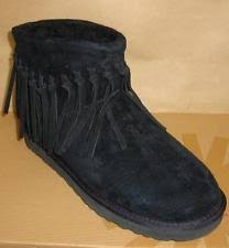s suede ankle boots australia ugg australia wynona black fringe suede ankle boots us 8 eu 39