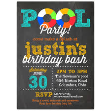 pool party invitations pool party chalk invitations paperstyle